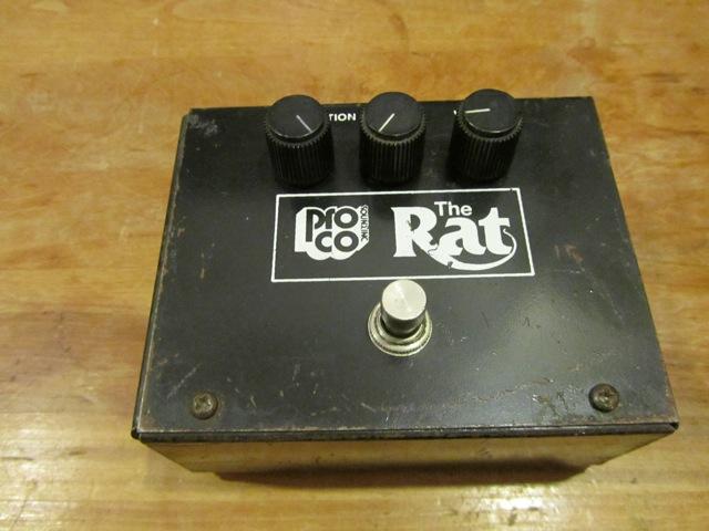 Vintage 1982 Proco Big Box Rat Pedal Andy Wolf